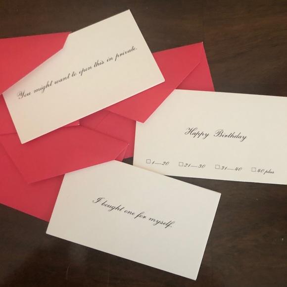 3/$15 🖤 kate spade ♠️ Mini Birthday Note Cards